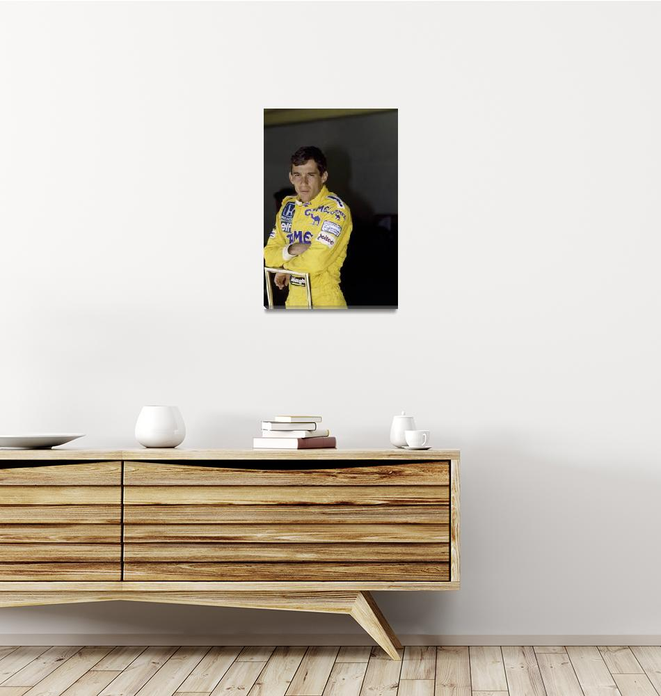 """Ayrton Senna. 1987 San Marino Grand Prix""  (1987) by legko"