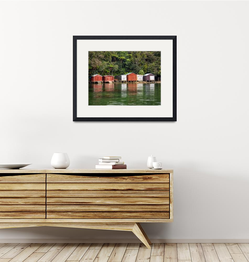 """""""The boat houses of Stewart Island in New Zealand""""  by Rikxpix"""
