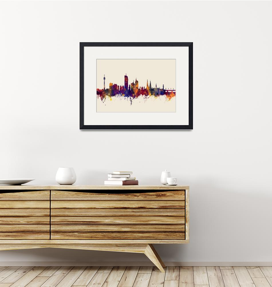 """Vienna Austria Skyline""  (2017) by ModernArtPrints"