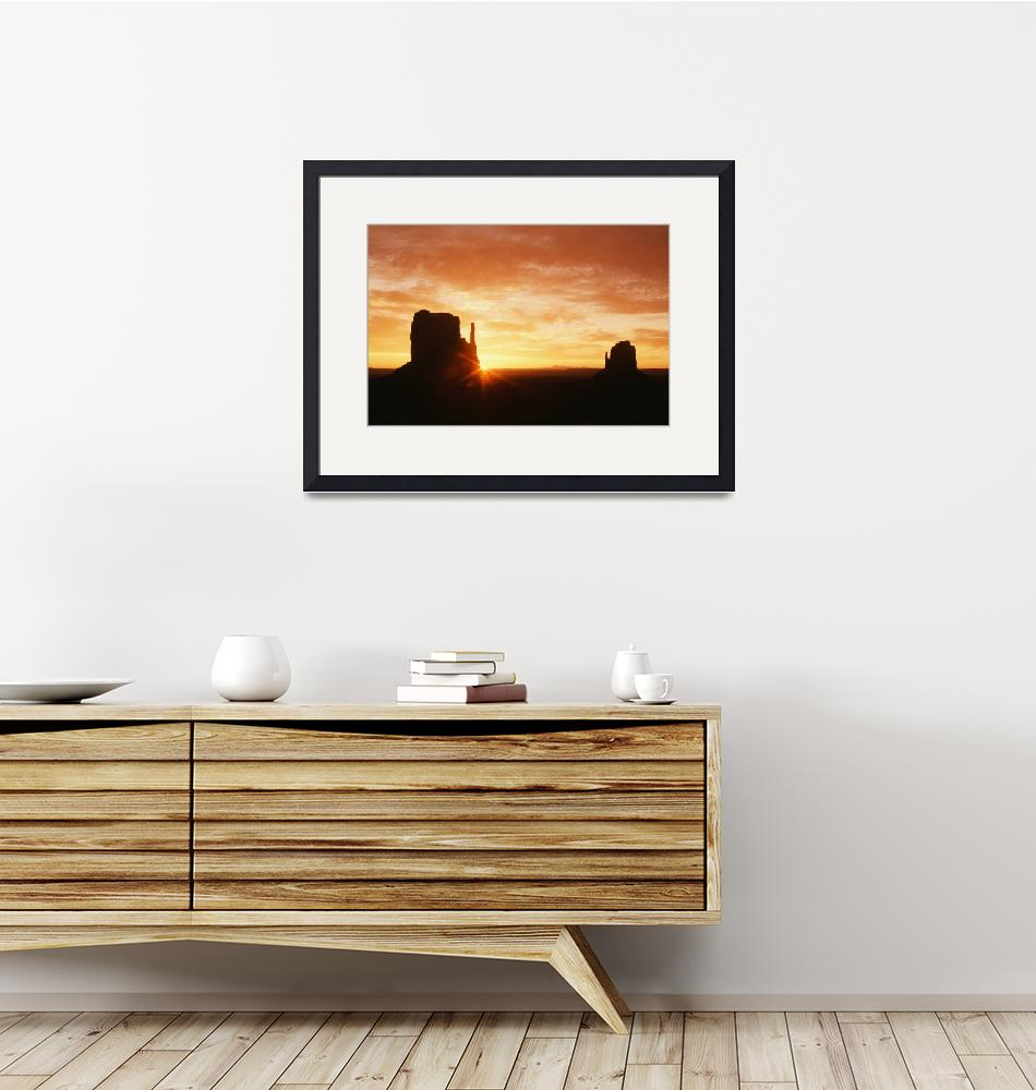 """""""The Mittens At Sunrise, Monument Valley Navajo Tri""""  by DesignPics"""