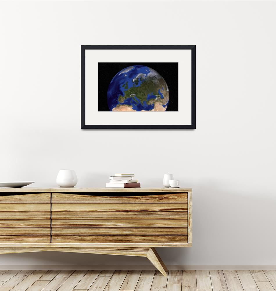 """""""Earth showing Europe.""""  by stocktrekimages"""