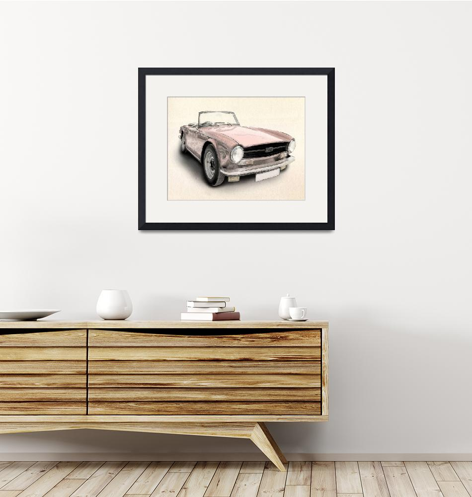 """Triumph TR6""  (2010) by ModernArtPrints"