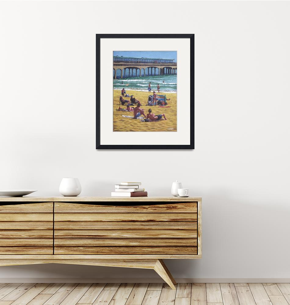 """""""people on Bournemouth beach Boys looking""""  (2011) by martindavey"""