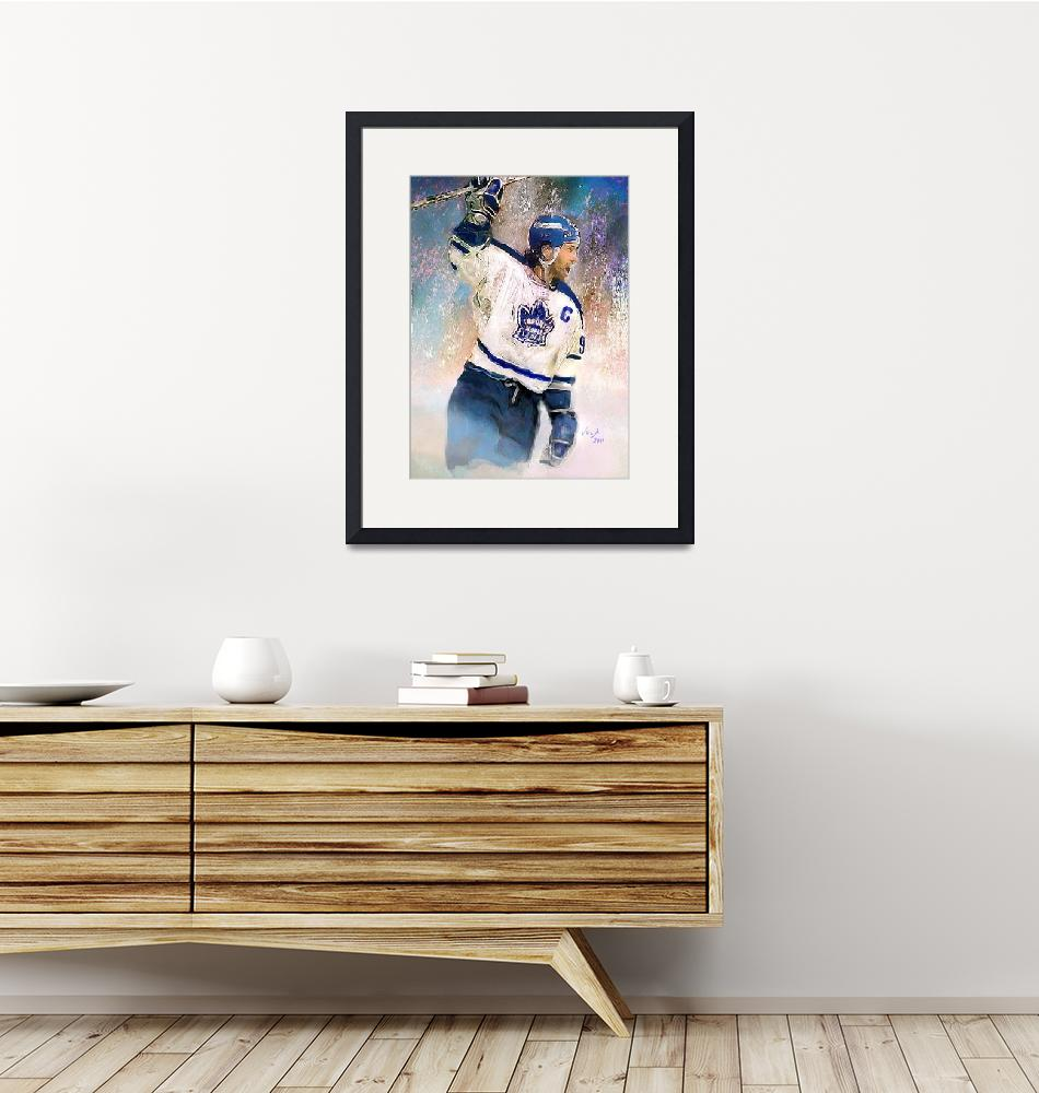 """Doug Gilmour, Toronto Maple Leafs, NHL Art""  (2011) by artofvela"