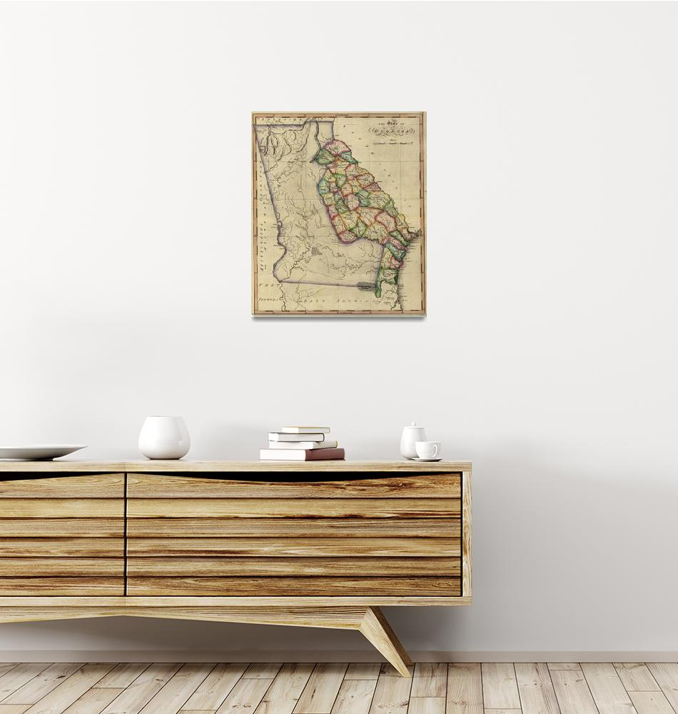 """Vintage Map of Georgia (1817)""  by Alleycatshirts"