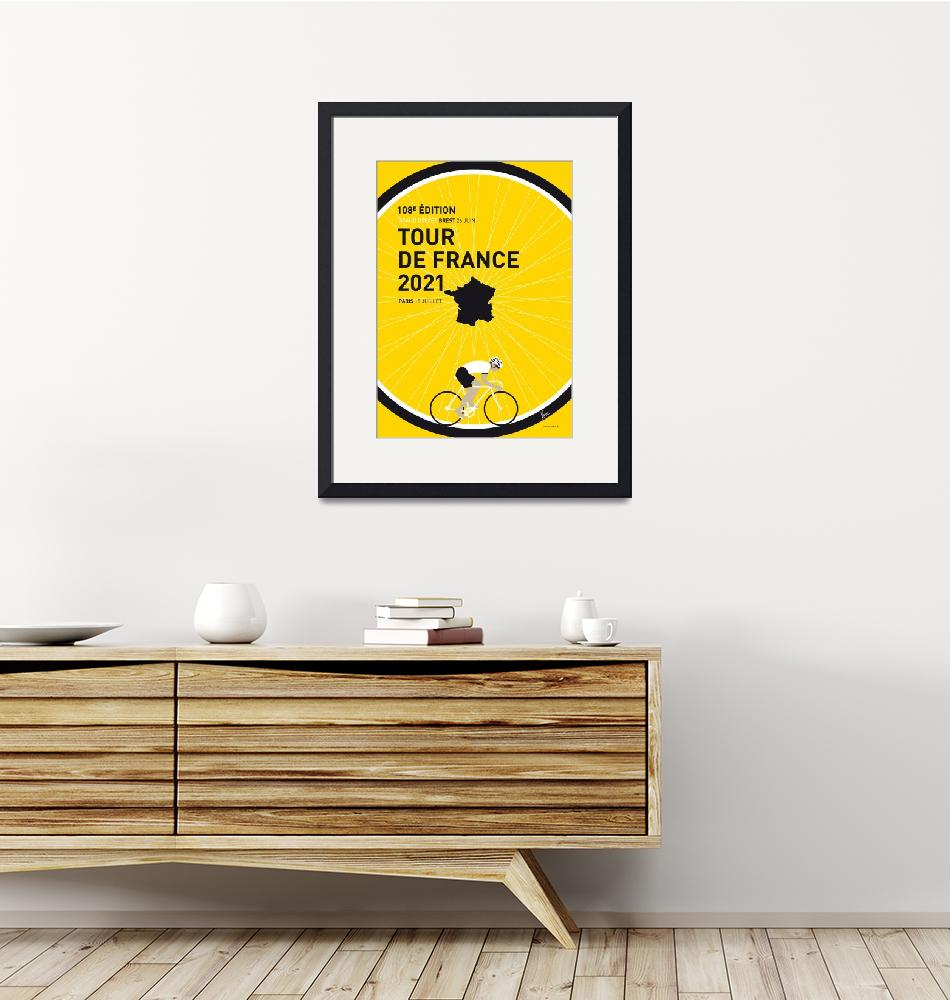 """""""MY TOUR DE FRANCE MINIMAL POSTER 2021"""" by Chungkong"""
