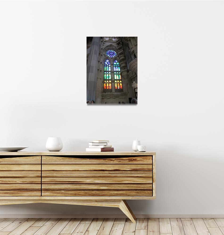"""Windows at La Sagrada Familia Basilica""  (2011) by davidclaudon"