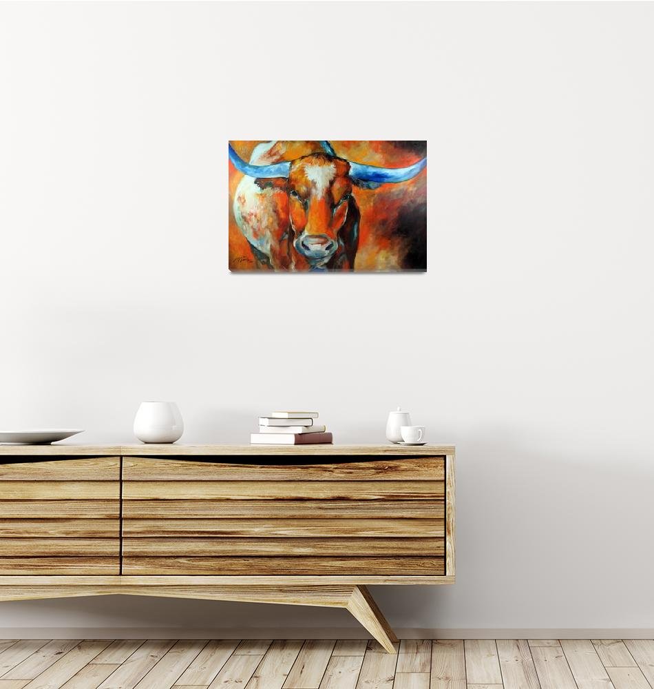 """TEXAS LONGHORN 2012""  (2012) by MBaldwinFineArt2006"