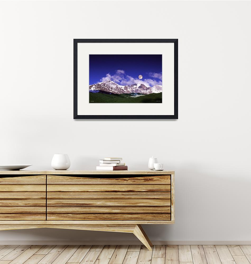 """Lco021-1 Longs Peak 6 a m""  (2005) by Williamcastner"