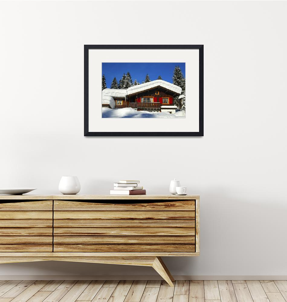 """""""Blockhouse under snow""""  (2013) by GFC_Collection"""