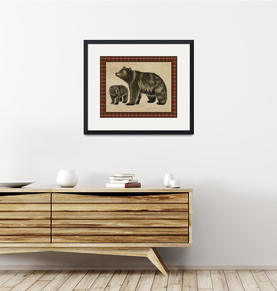 """""""Rustic Woods Collection - Bear and Cub"""" (2017) by Littlepig"""