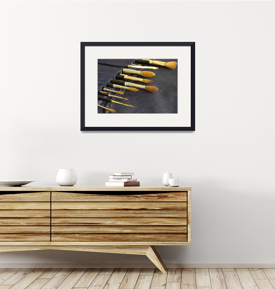 """""""Artists paint brushes"""" (2009) by Dom_Aves"""