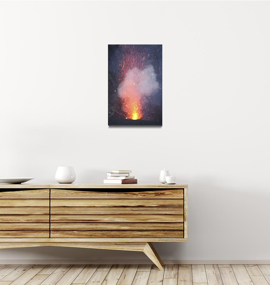 """""""Strombolian eruption from vent in summit crater, Y""""  by stocktrekimages"""