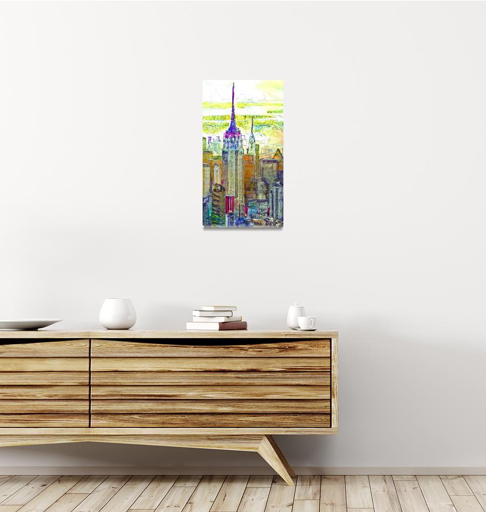 """New York City, Art Deco City Spires""  (2018) by RDRiccoboni"