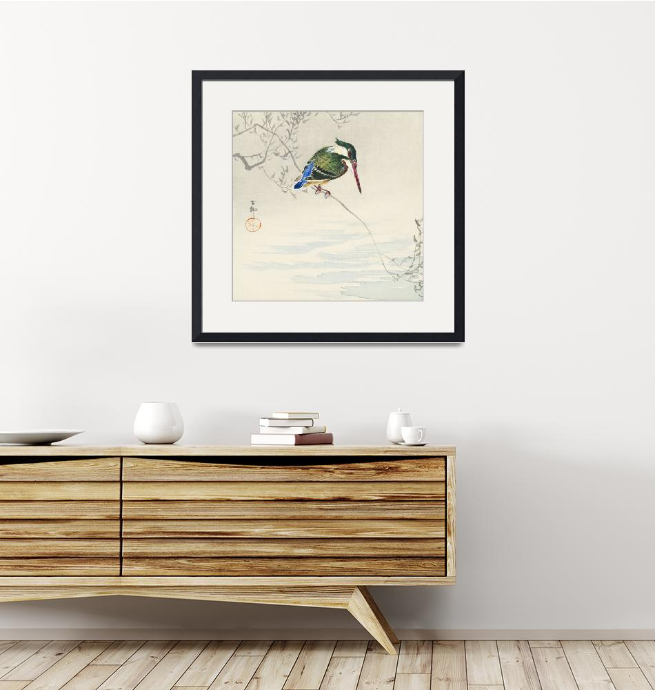 """""""A Kingfisher on a Branch by Ohara Koson"""" by FineArtClassics"""