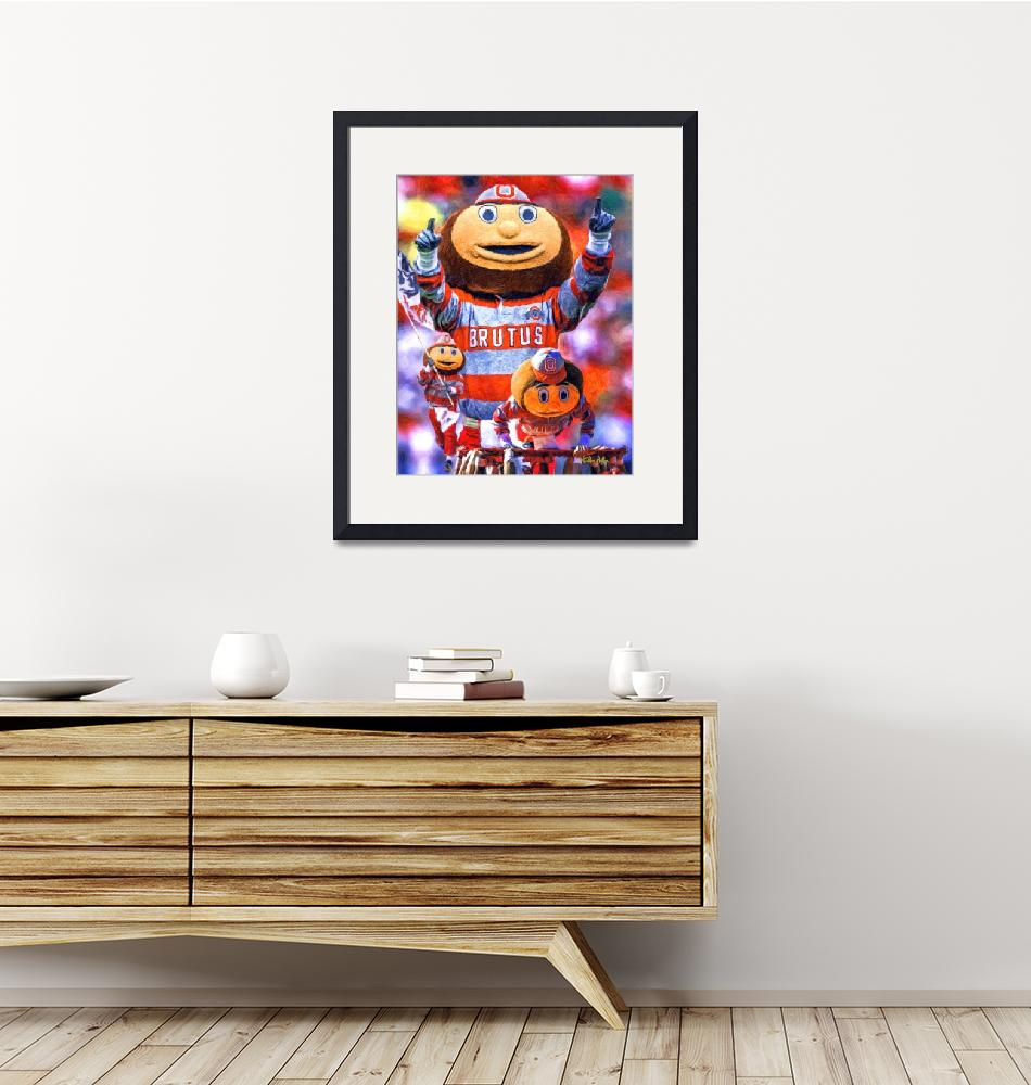 """Ohio State Buckeyes Brutus 2510 ART AIP AM3 FAA""  by Richimage"