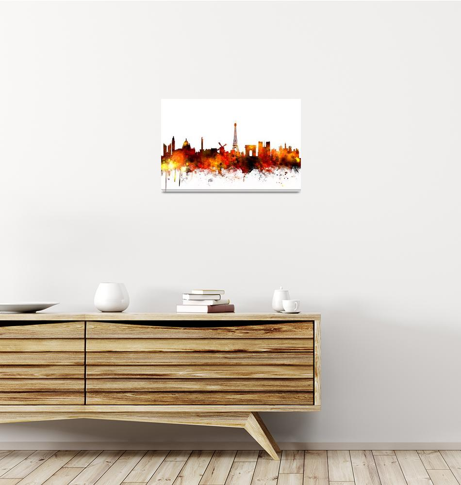 """Paris France Skyline""  (2014) by ModernArtPrints"