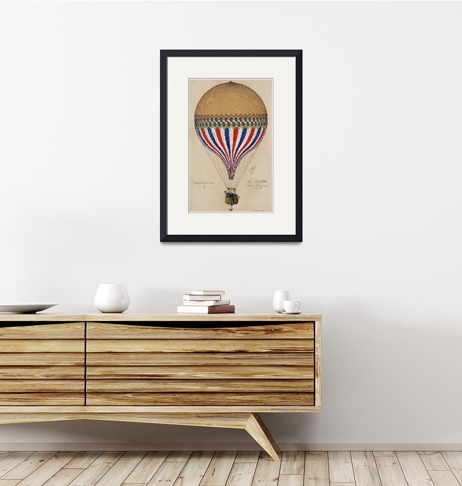 """The Tricolor Balloon with French Flag""  by FineArtClassics"