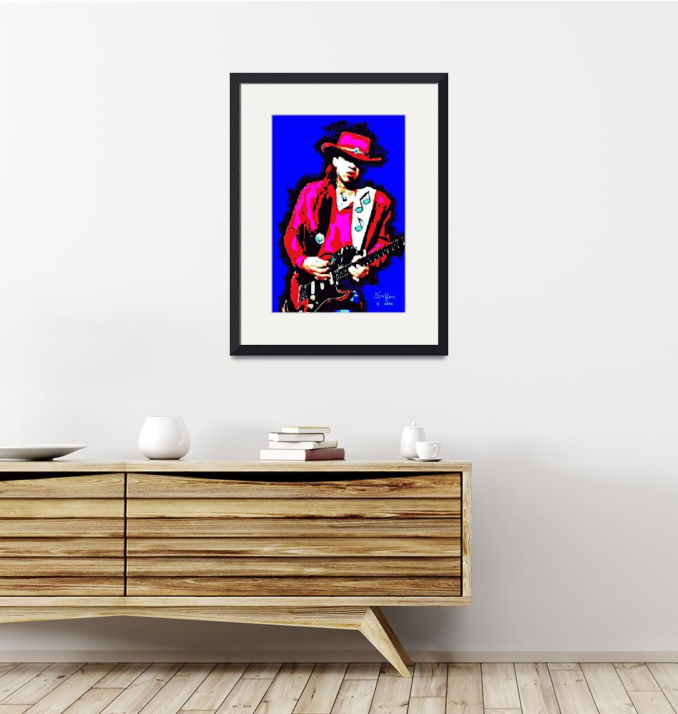 """Stevie Ray Vaughn""  (2014) by davegafford"