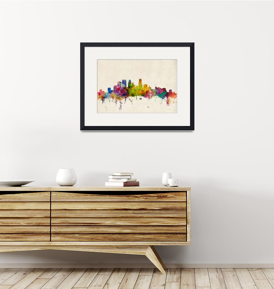 """Minneapolis Minnesota Skyline""  (2013) by ModernArtPrints"