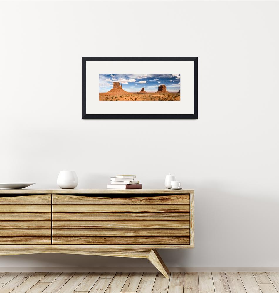 """""""Monument Valley Daytime Panoramic 3x1""""  by cyorkphoto"""