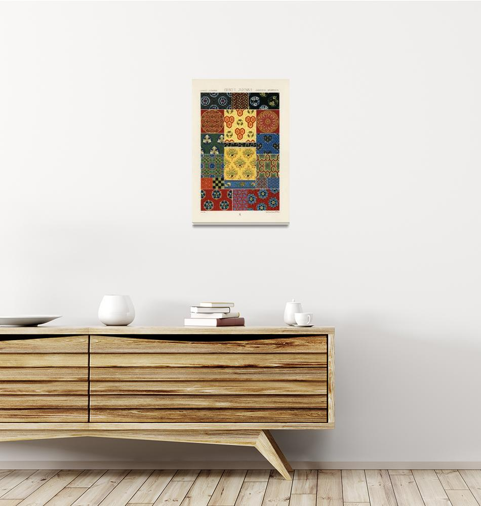 """Chinese & Japanese Pattern II by Albert Racinet""  by FineArtClassics"