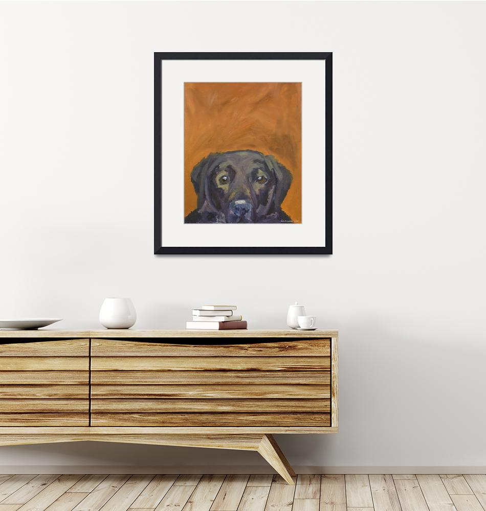 """""""Dogs - Dog, Black - Labs""""  (2008) by KarinLauria"""