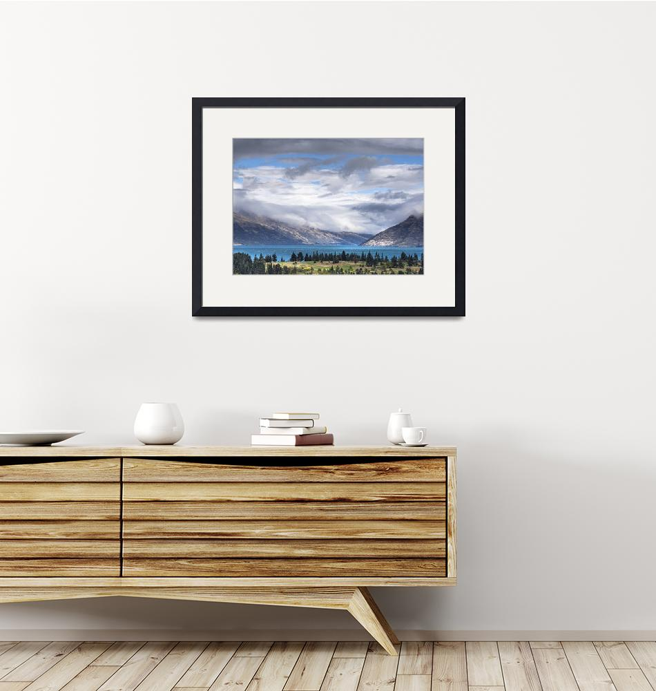 """""""A view on Wakatipu Lake from Queenstown in New Zea""""  by Rikxpix"""