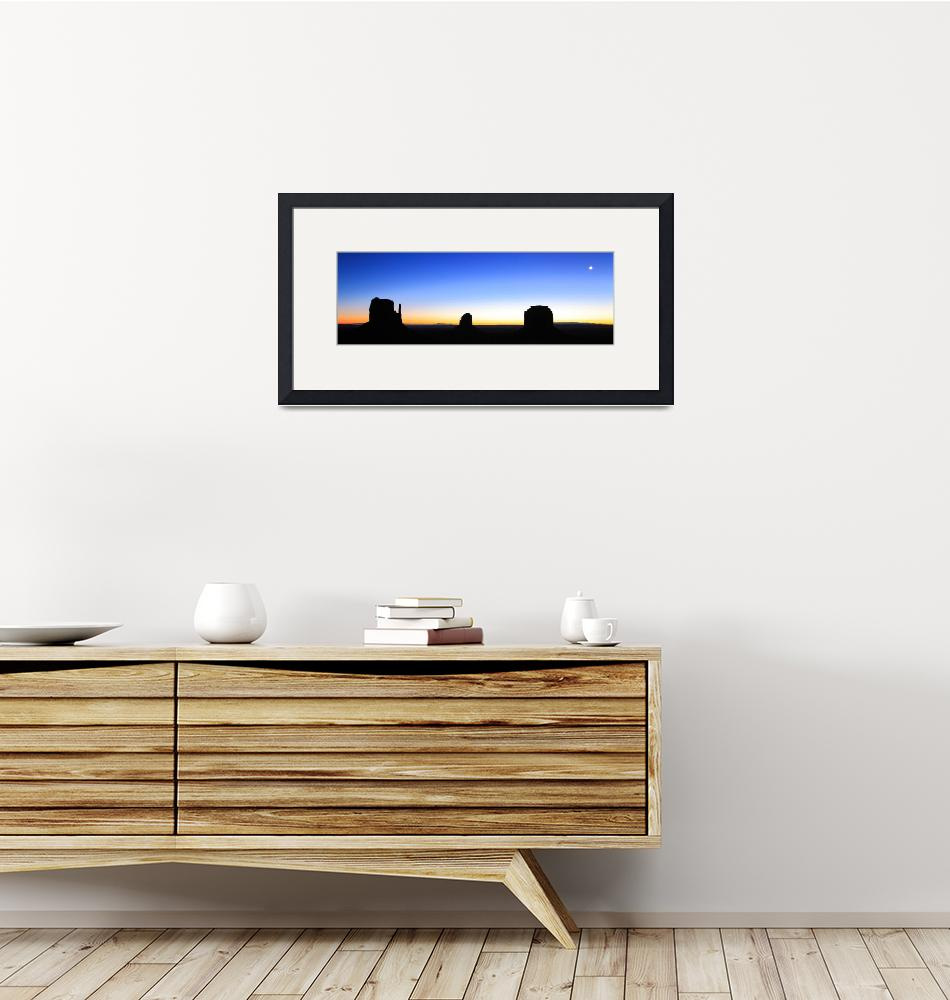"""""""Monunent Valley Dawn Panoramic""""  (2013) by RoupenBaker"""
