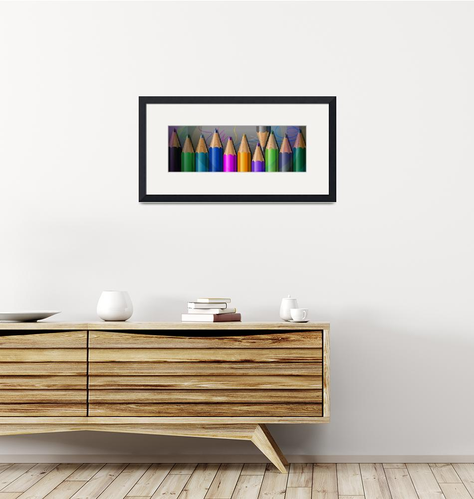 """""""Pencils""""  (2015) by Goldengallery"""