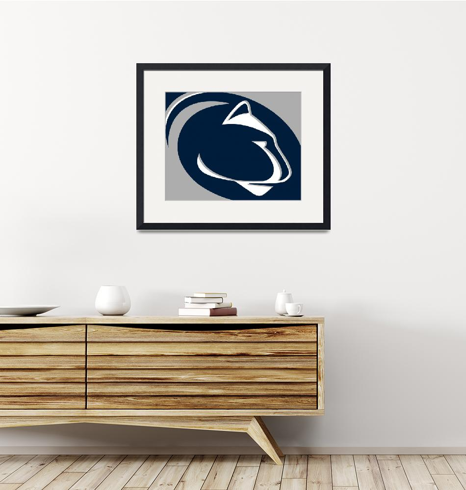 """Penn State Nittany Lions""  by RubinoFineArt"
