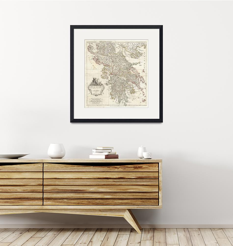 """""""Vintage Map of Greece (1794)""""  by Alleycatshirts"""