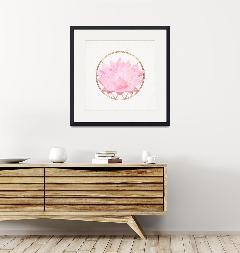 """""""Pink Lotus""""  (2018) by moderntropical"""