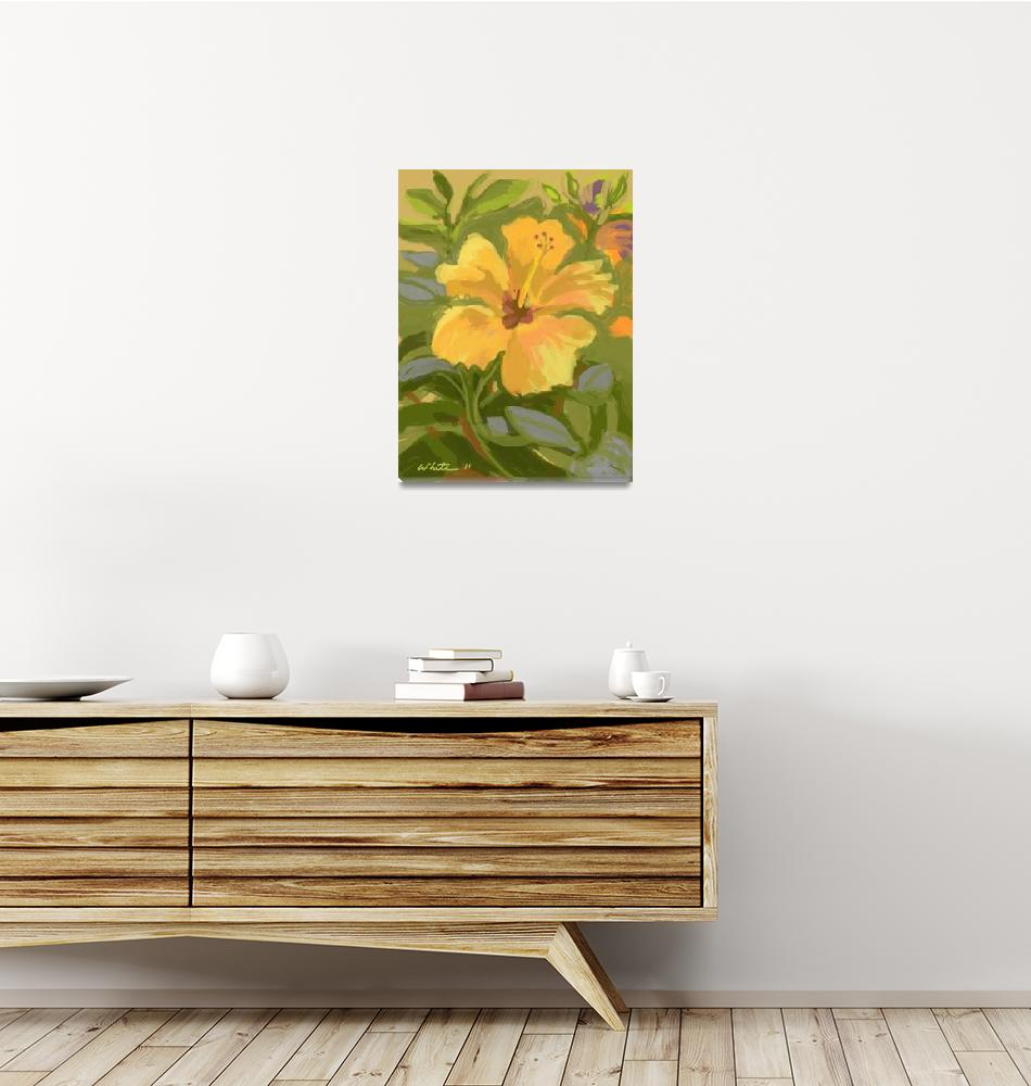 """Butterscotch Hibiscus""  (2011) by rogerwhite"