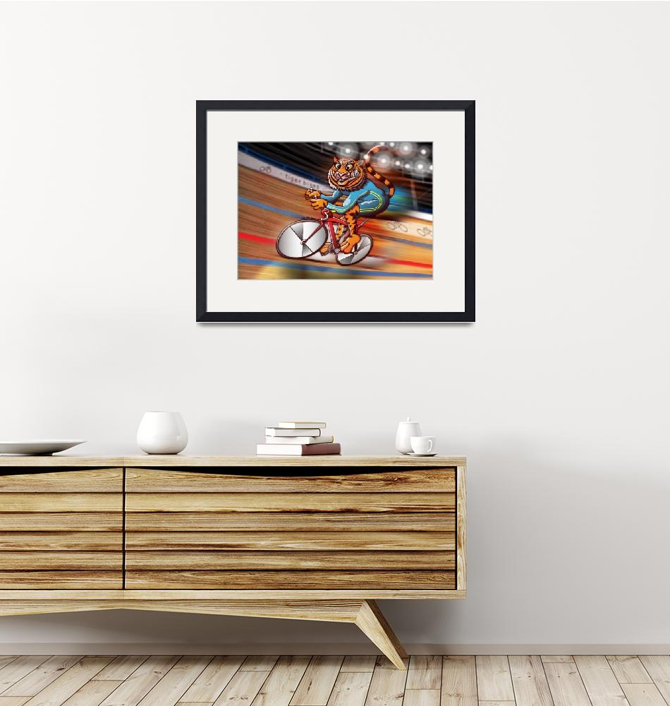 """""""Olympic Cycling Tiger"""" (2012) by Zooco"""