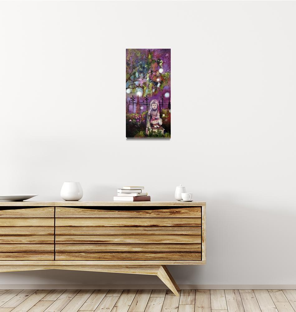 """Gracie & Friends Bonaventure Savannah Oil Painting""  (2011) by GinetteCallaway"