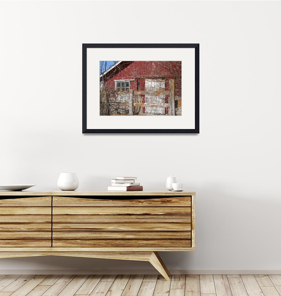 """""""Weathered Red Barn Building""""  by Driftless"""