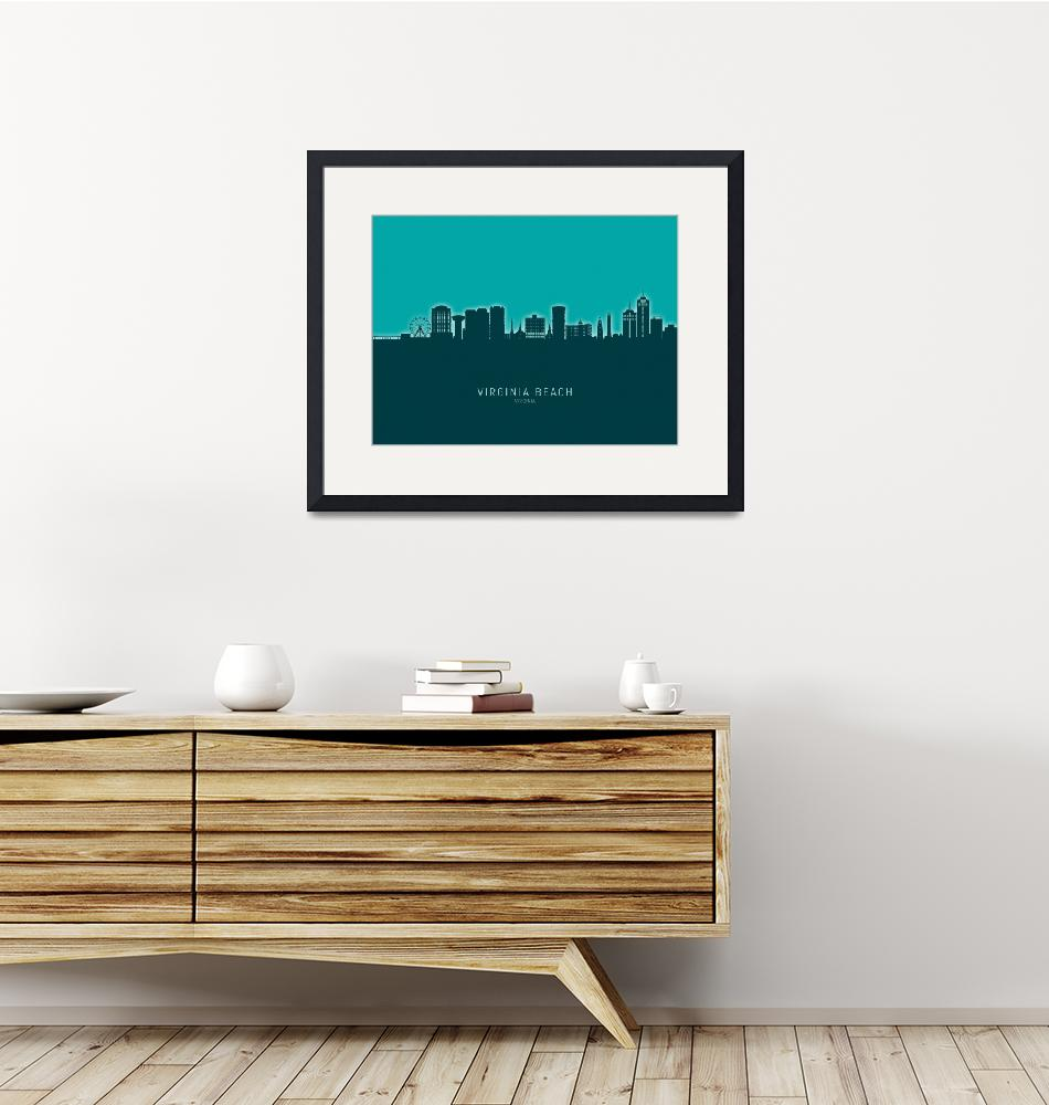 """Virginia Beach Virginia Skyline"" (2020) by ModernArtPrints"