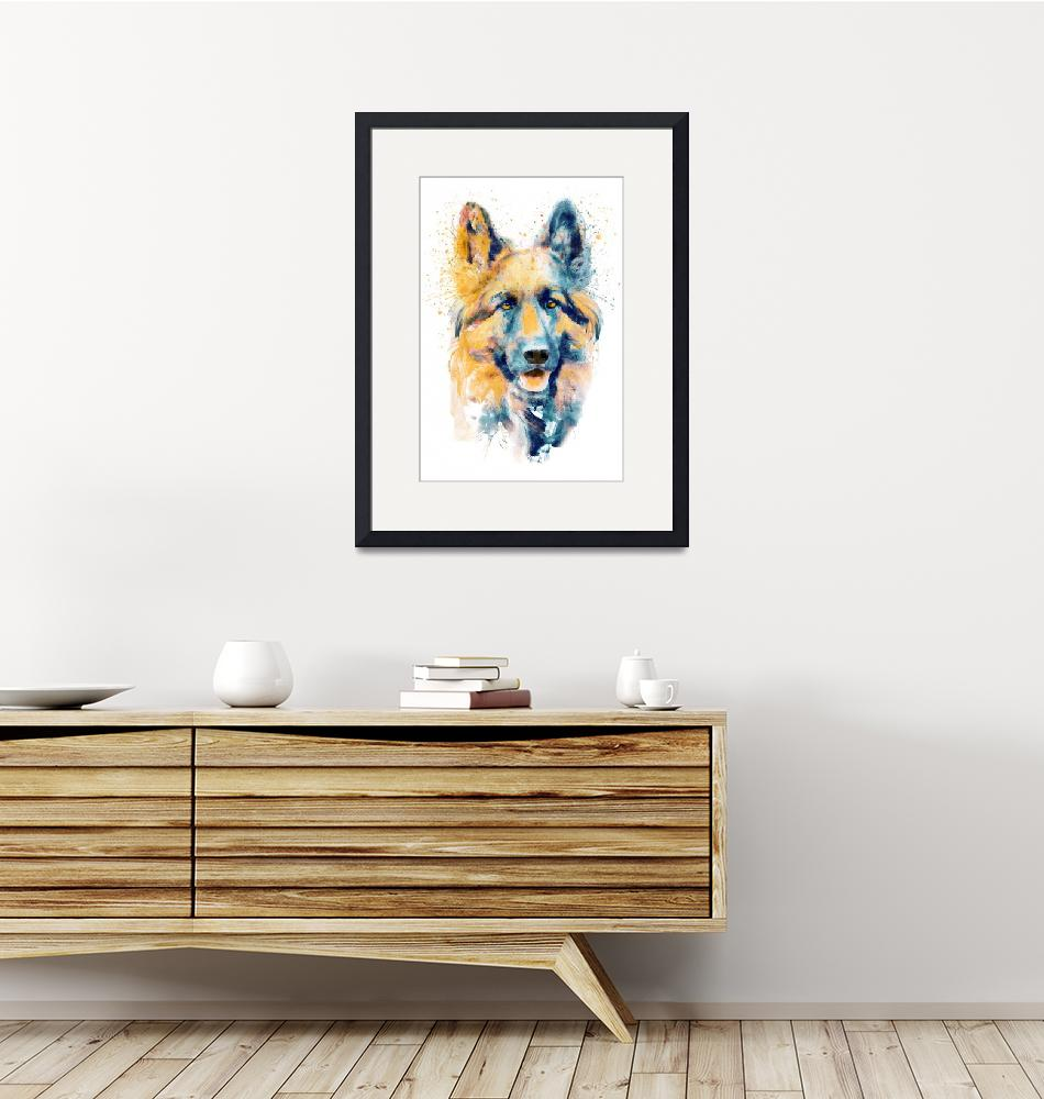 """German Shepherd Dog Portrait""  (2019) by MarianVoicu"