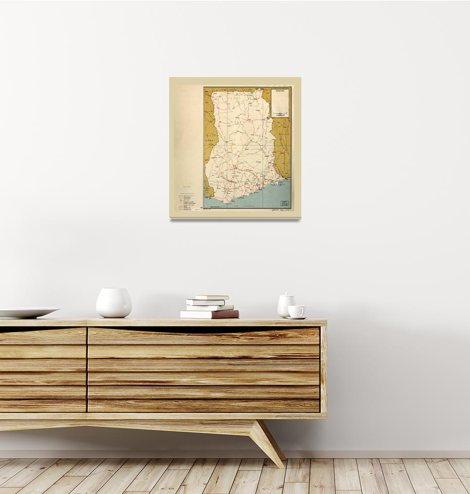 """Map of Ghana (1963)""  (1963) by ArtHistory"