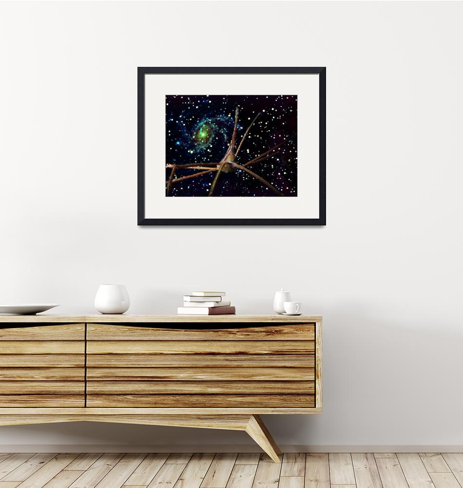 """Arrow Crab and Spiral Galaxy""  (1995) by Synergies"