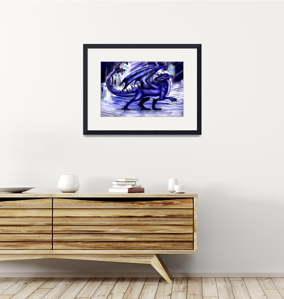 """Icy Blue Dragon""  (2007) by llherron"