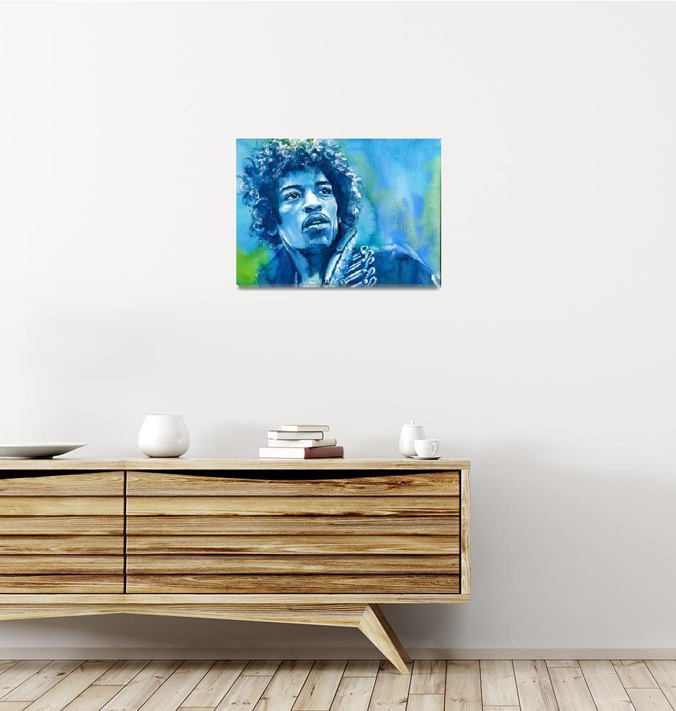 """""""Jimi Hendrix""""  (2017) by KellyEddington"""