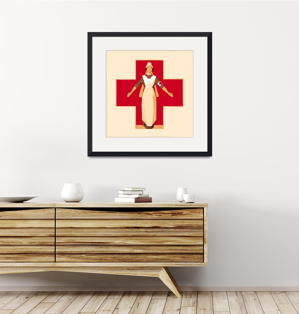 """""""Red Cross, circa 1914""""  (2011) by mcconnico"""