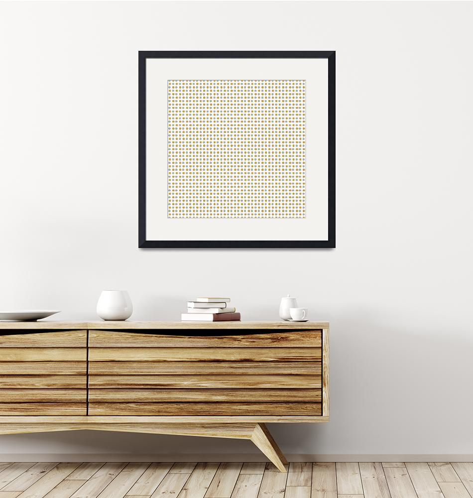"""Gold and Silver Polka Dots Pattern""  (2020) by ValeriesGallery"