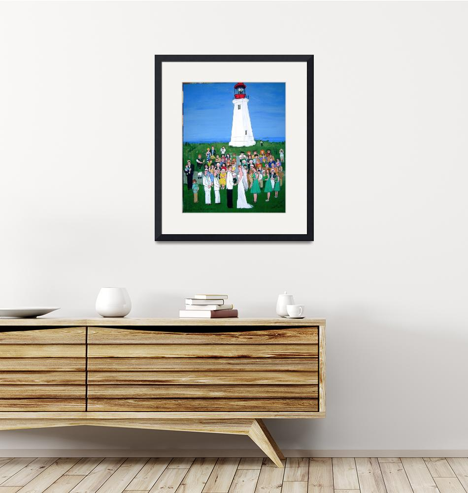 """""""Lighthouse Wedding""""  (2010) by AudCooperArtist"""