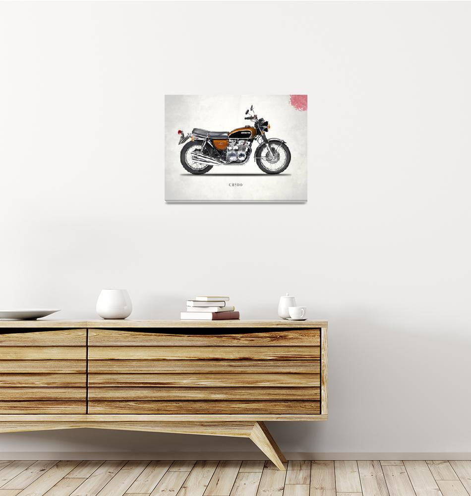 """The Honda CB500 Classic Motorcycle""  by mark-rogan"