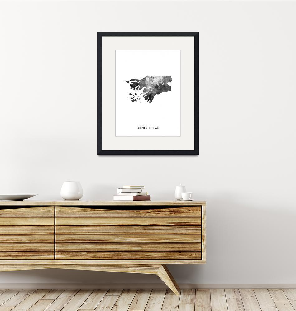 """Guinea-Bissau Watercolor Map""  (2019) by ModernArtPrints"