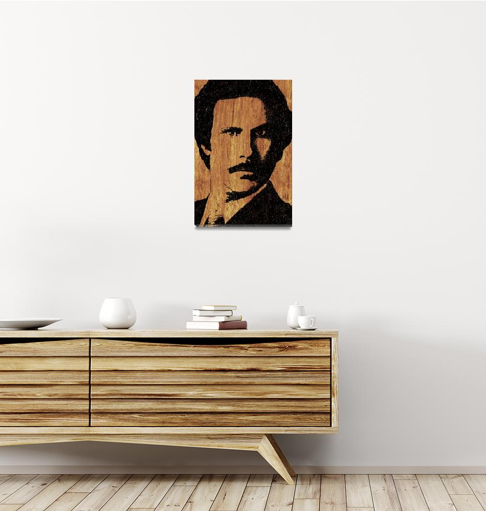 """Will Ferrell Anchorman Ron Burgundy On Simulated S""  (2015) by RubinoFineArt"