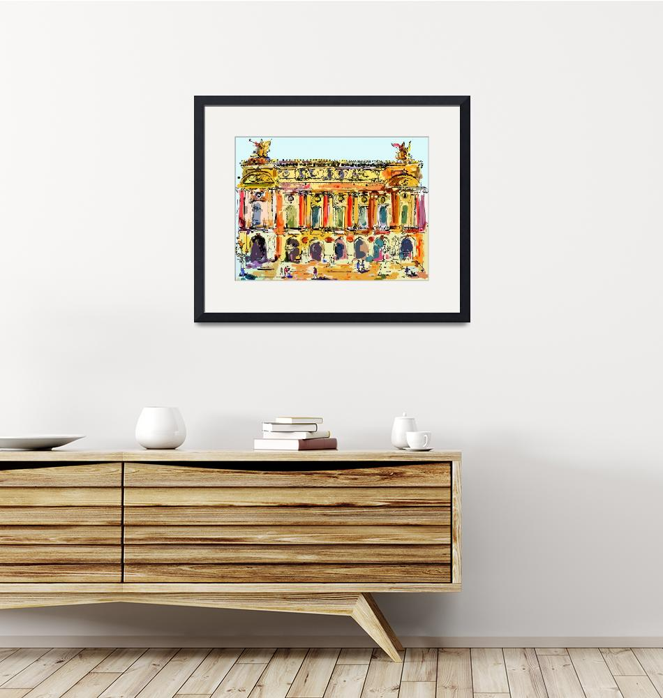 """""""Opera Garnier Paris Ink & Mouse Painting""""  (2008) by GinetteCallaway"""